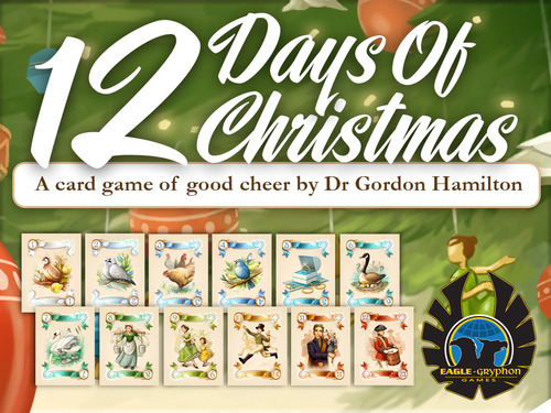 Monopolis 12 Days of Christmas Base Tabletop, Board and Card Game