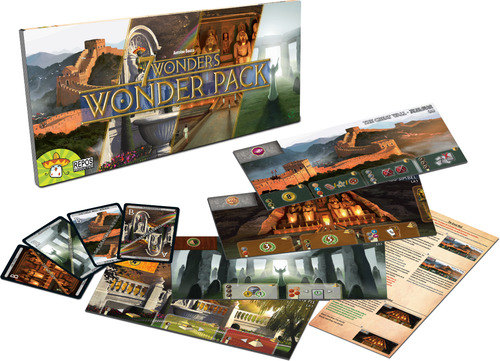 Monopolis 7 Wonders Wonder Pack Expansion Tabletop, Board and Card Game