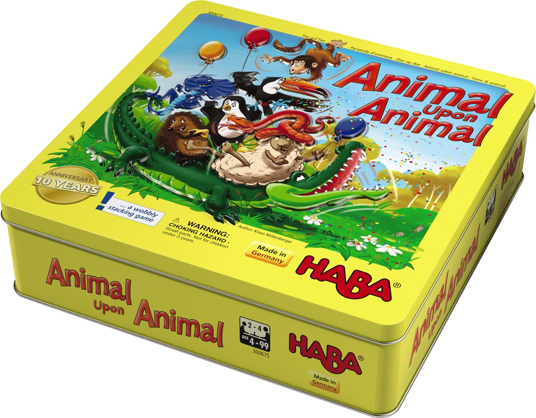 Monopolis Animal Upon Animal Base Tabletop, Board and Card Game