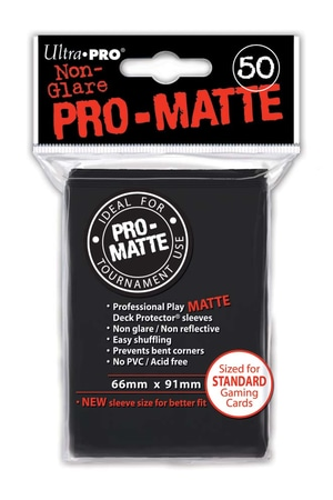 Monopolis Ultra Pro Black Pro Matte 66x91 Card Sleeve Board Game Accessories