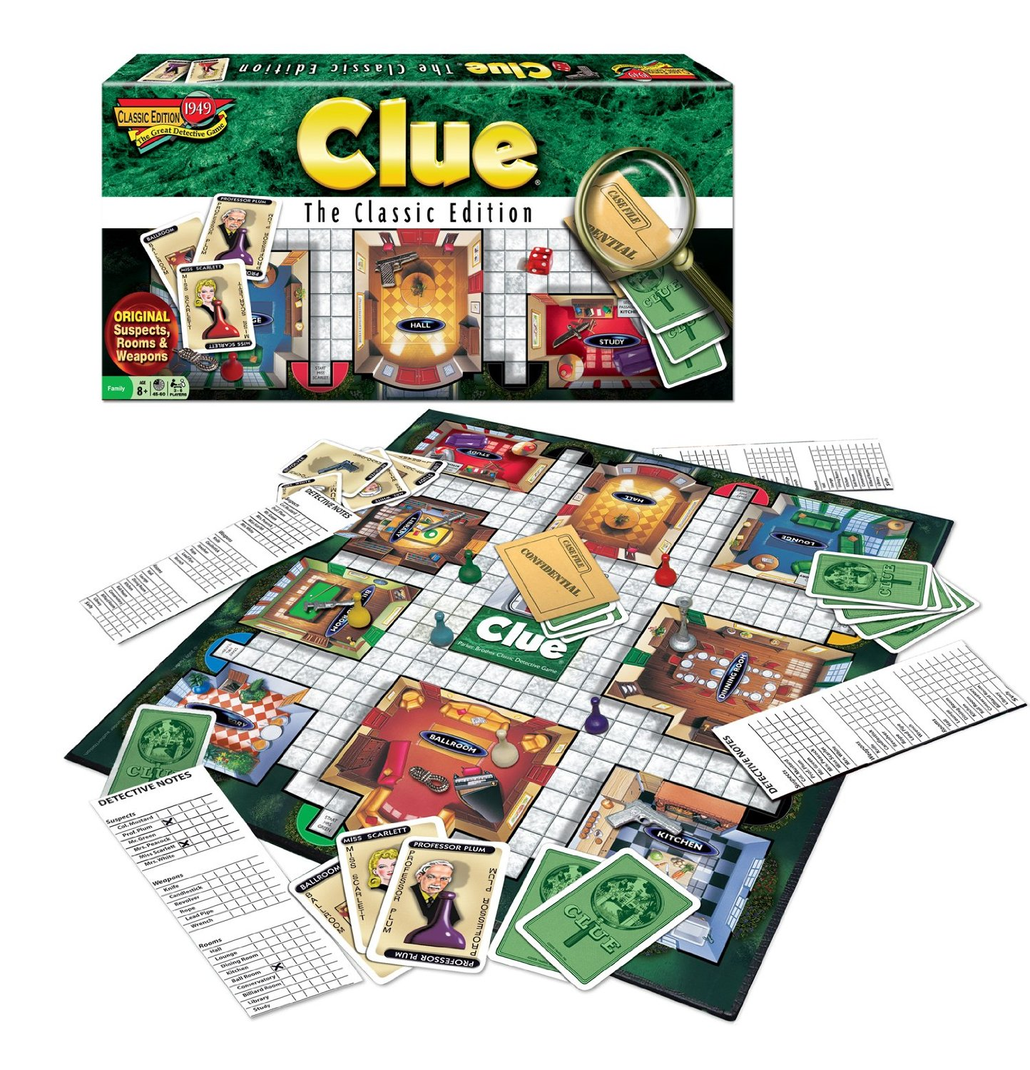 Monopolis Cluedo Base Tabletop, Board and Card Game