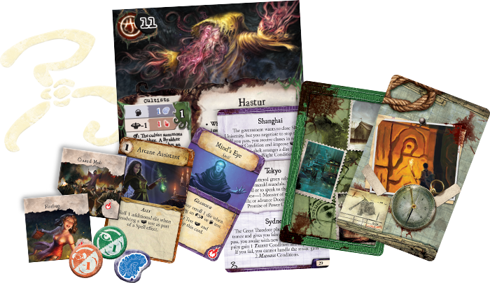 Monopolis Eldritch Horror Signs of Carcossa Expansion Tabletop, Board and Card Game