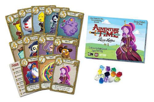 Monopolis Love Letter Adventure Time Base Tabletop, Board and Card Game