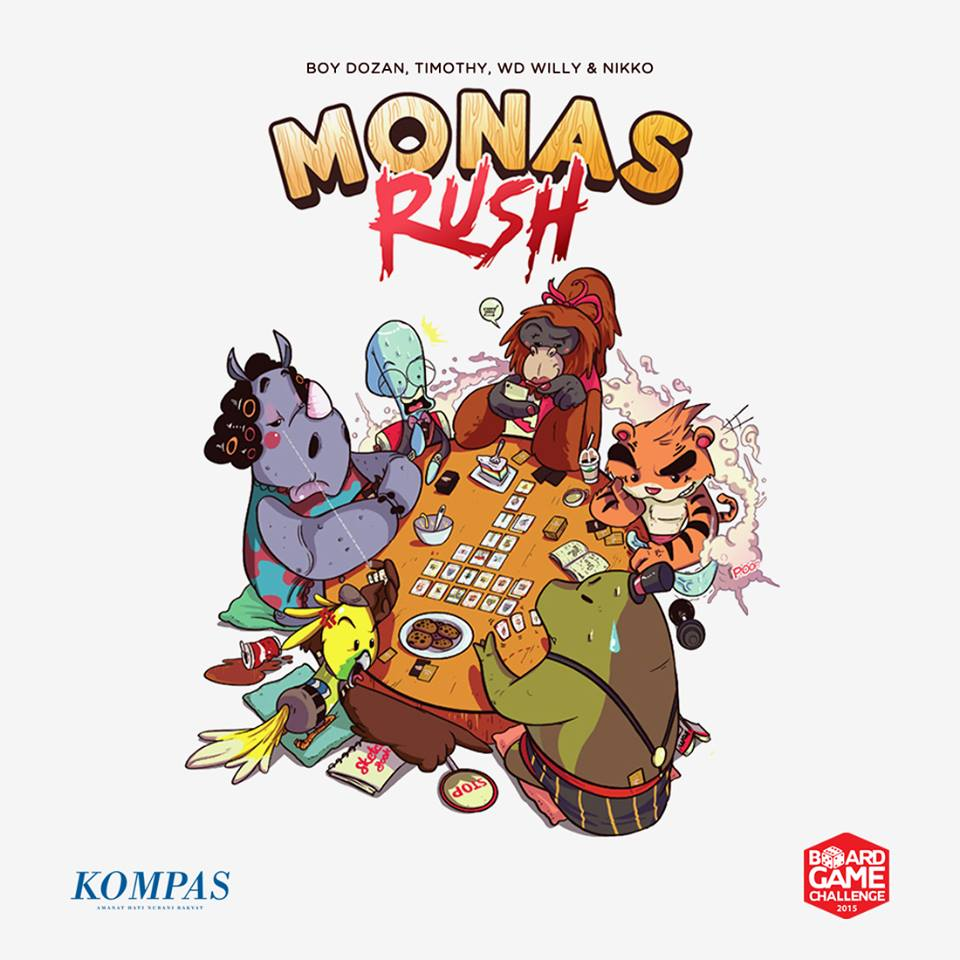 Monopolis Monas Rush Base Tabletop, Board and Card Game