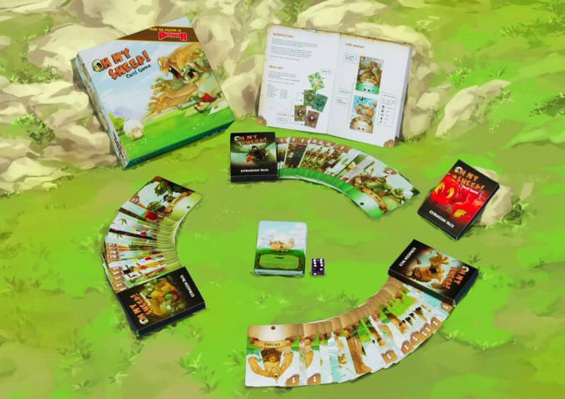 Monopolis Oh My Sheep! Base Tabletop, Board and Card Game