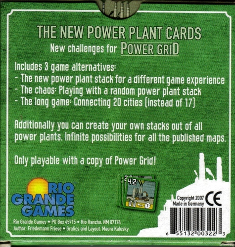 Monopolis Power Grid: The New Power Plant Cards Expansion Tabletop, Board and Card Game