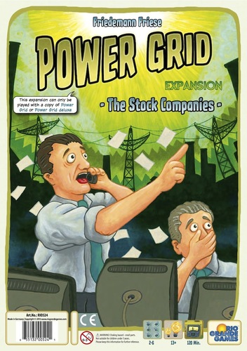 Monopolis Power Grid: The Stock Companies Expansion Tabletop, Board and Card Game