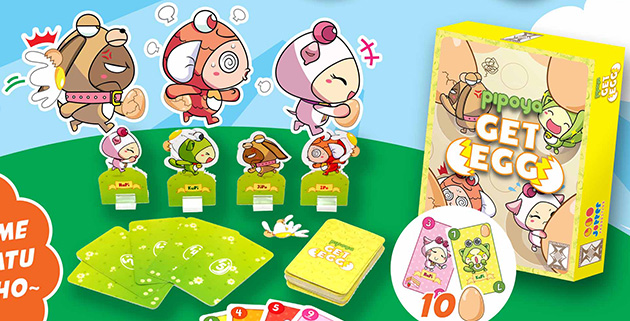 Monopolis Pipoya Get Egg Base Tabletop, Board and Card Game