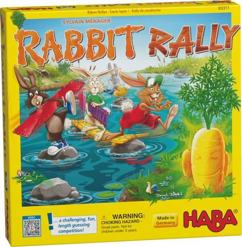Monopolis Rabbit Rally Base Tabletop, Board and Card Game