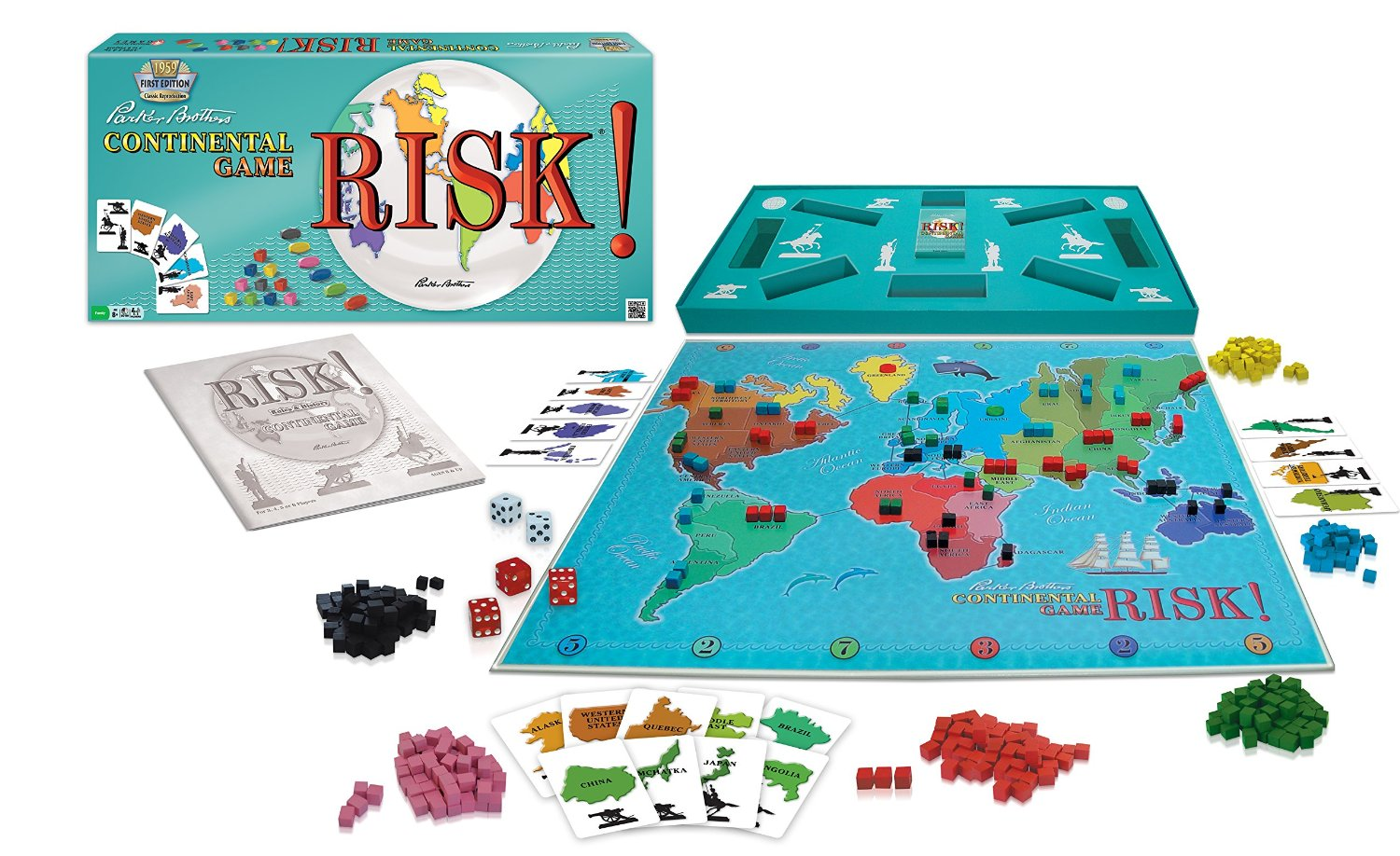 Monopolis Risk 1959 Base Tabletop, Board and Card Game