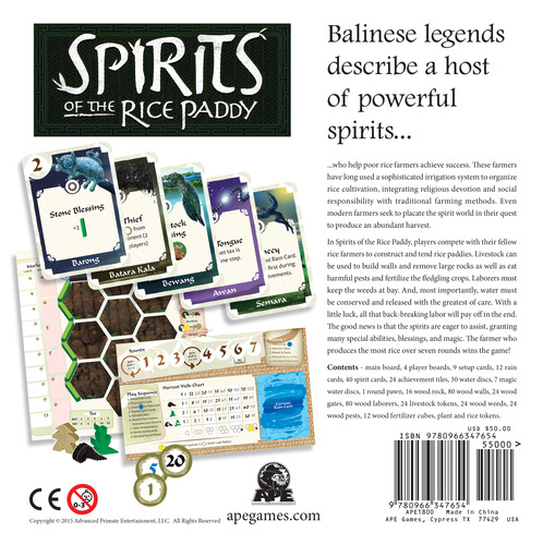 Monopolis Spirits of the Rice Paddy Board Game Base Tabletop, Board and Card Game