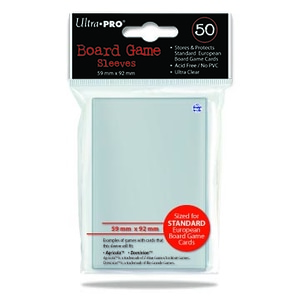 Monopolis Ultra Pro Euro 59x92 Card Sleeve Board Game Accessories