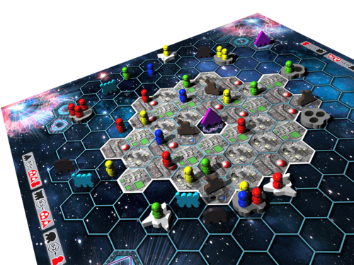 Monopolis Survive Space Attack Board Game Base Tabletop, Board and Card Game