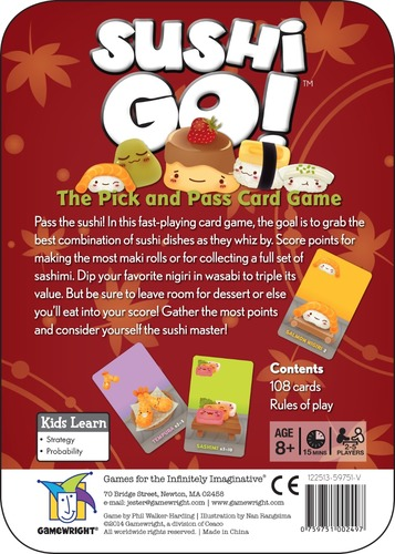 Monopolis Sushi GO! Board Game Base Tabletop, Board and Card Game