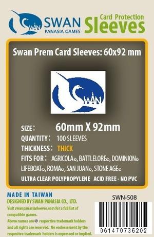 Monopolis Swan Panasia Euro 60x92 Card Sleeve Board Game Accessories