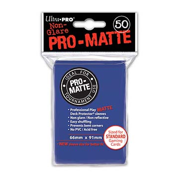 Monopolis Ultra Pro Blue Pro Matte 66x91 Standard Card Sleeve Board Game Accessories