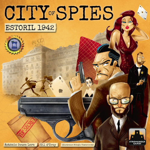 Monopolis City of Spies: Estoril 1942 Base Tabletop, Board and Card Game