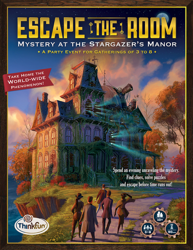 Monopolis Escape the Room Mystery at the Stargazer's Manor Base Tabletop, Board and Card Game
