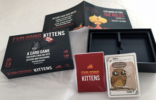 Monopolis Exploding Kittens NSFW Base Tabletop, Board and Card Game