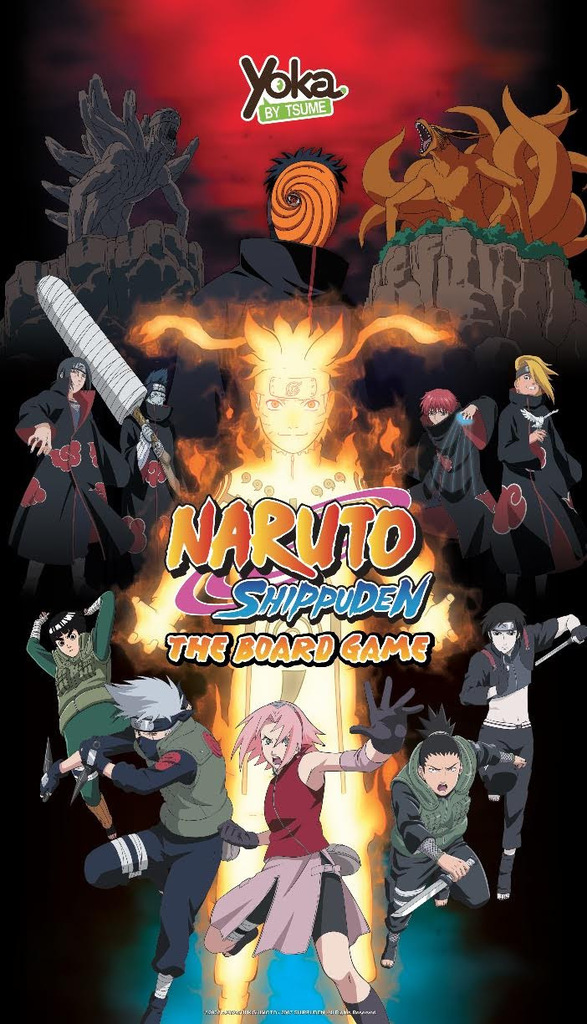 Monopolis Naruto Shippuden Base Tabletop, Board and Card Game