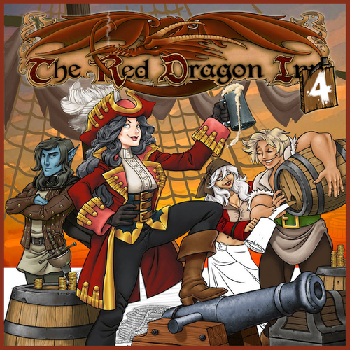 Monopolis The Red Dragon Inn 4 Board Game Base Tabletop, Board and Card Game