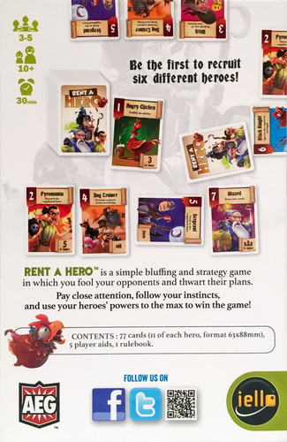 Monopolis Rent a Hero Board Game Base Tabletop, Board and Card Game