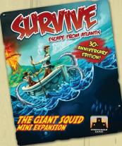 Monopolis Survive Escape from Atlantis Giant Squids Expansion Tabletop, Board and Card Game