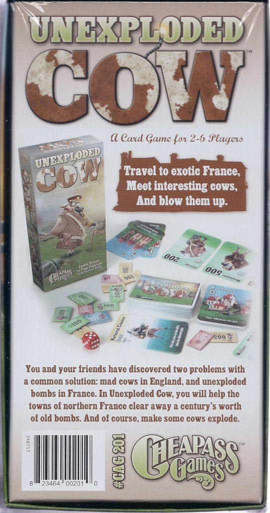 Monopolis Unexploded Cow Deluxe Edition Board Game Base Tabletop, Board and Card Game