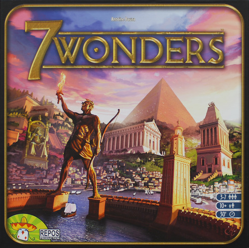 Monopolis 7 Wonders Base Board and Card Game