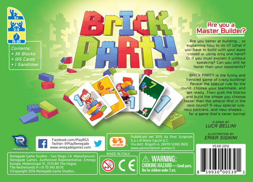 Monopolis Brick Party Base Tabletop, Board and Card Game