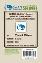 Monopolis Swan Panasia 7 Wonders 65x100 Card Sleeve Board Game Accessories